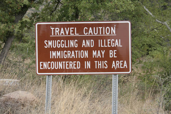 Illegal Warning Sign